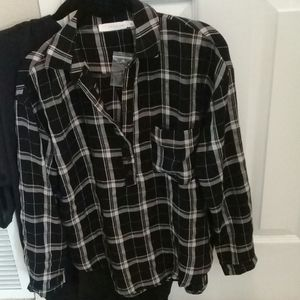 Bundle of 2 Lush shirts. One black with brushed
